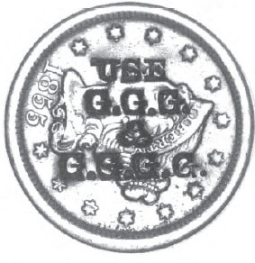 Advertising Stamp USE GGG GGGG On The Obverse Of An 1857 Cent Only Countermark Seen By Author A That Date