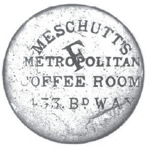 Another MESCHUTT Counter Stamp This One On The Obverse Of A Draped Bust Cent Early 1800s Worn Nearly Smooth