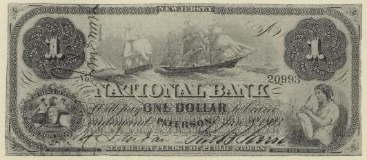 ABRAHAM LINCOLN American Civil War Commander-in-Chief Genuine US $2 Bill w//Folio