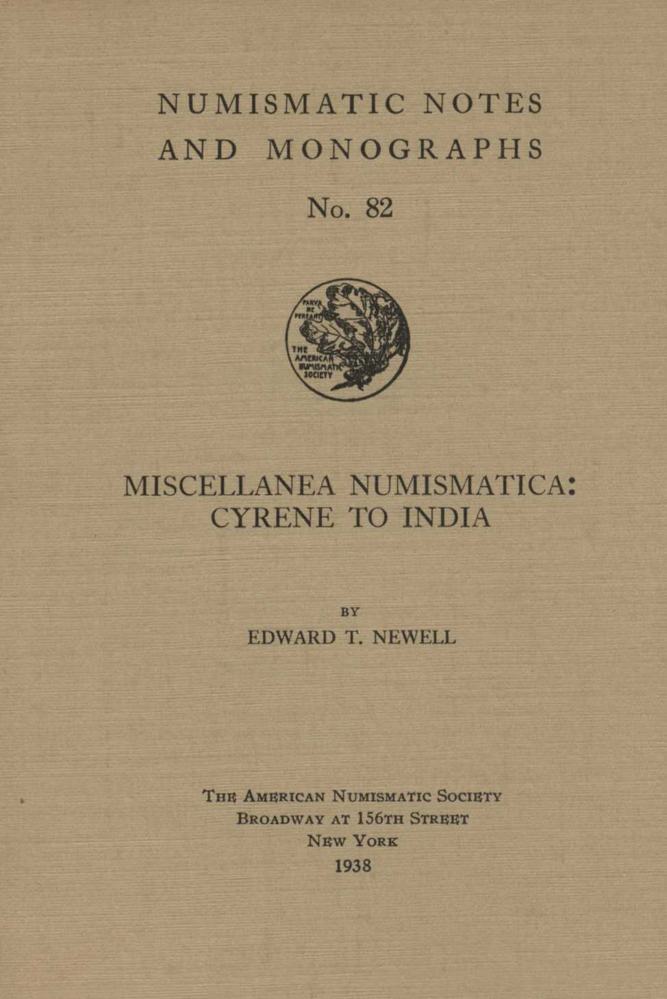 ans digital library miscellanea numismatica